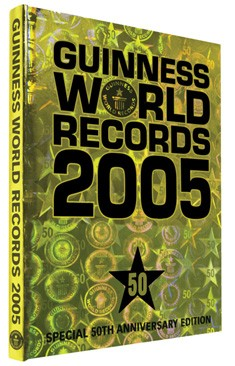 Guinness world records 2005, Claire Folkard