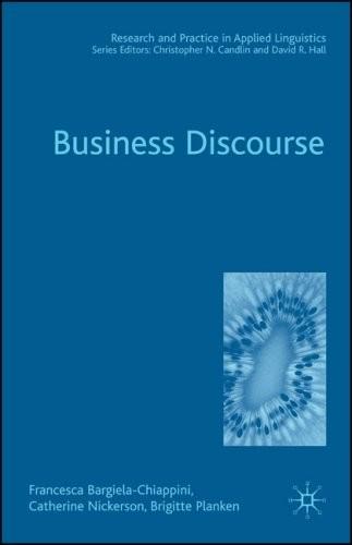 Business discourse, Francesca Bargiela-Chiappini