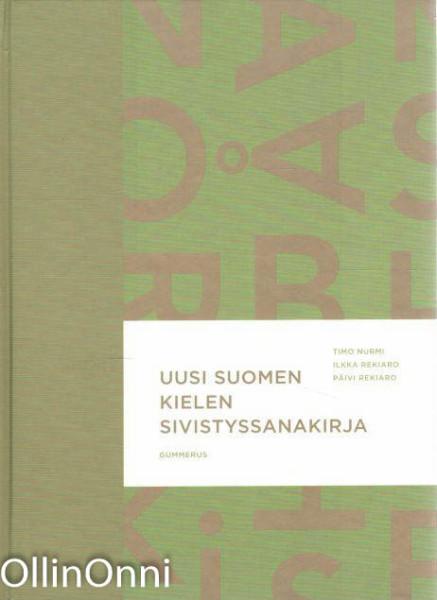Uusi suomen kielen sivistyssanakirja, Timo Nurmi