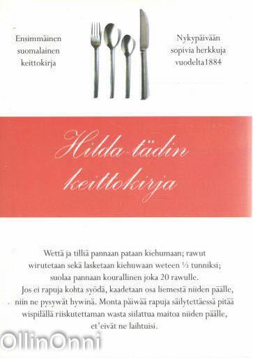 Hilda-tädin keittokirja, Hilda Carger