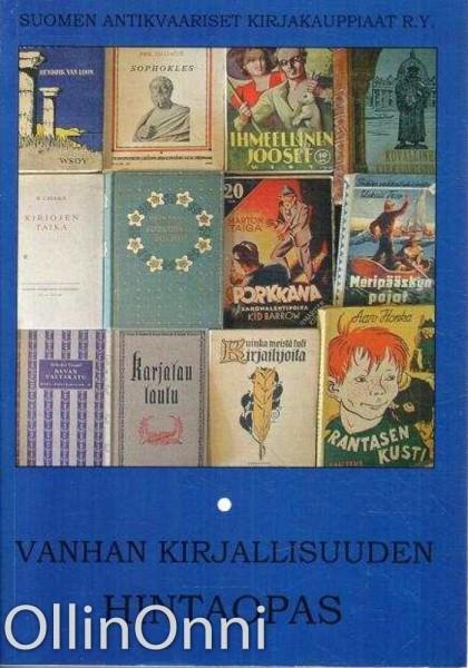 Vanhan kirjallisuuden hintaopas I-II, Tapani Vinkala