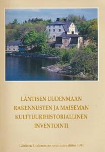 Kulturhistorisk inventering av byggnader och landskap i västra Nyland, Mikko Härö
