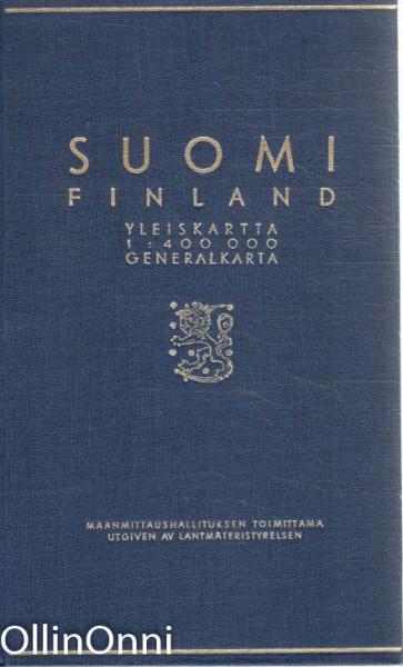 Suomi Finland yleiskartta - Generalkarta, Ei Tiedossa