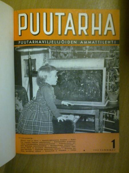 Puutarha-lehti vsk 1952 1-12 (sidottu kirja),  Toimitus