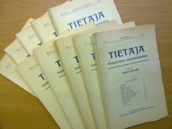 Tietäjä teosofinen aikakauskirja 1913 N:o 1-12 (kaksoisnumerot 5-6 ja 7-8), Pekka Ervast
