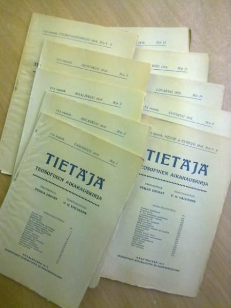 Tietäjä teosofinen aikakauskirja 1915 N:o 1-12 (kaksoisnumerot 5-6 ja 7-8), Pekka Ervast