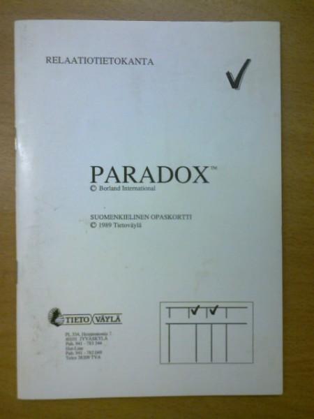 Paradox 3.0 suomenkielinen opaskortti,