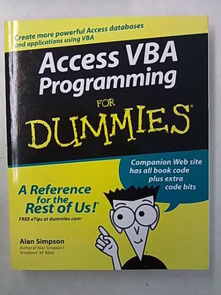 Access VBA Programming for Dummies, Simpson Alan