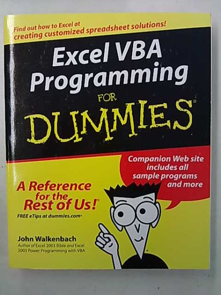 Excel VBA Programming for Dummies, Walkenback John