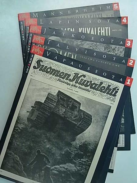 Suomen Kuvalehti 1-5 erikoisnumerot Vapaussota, Talvisota, Jatkosota, Lapin sota, Mannerheim,