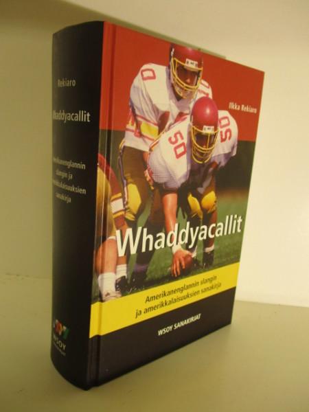 Whaddyacallit : amerikanenglannin slangin ja amerikkalaisuuksien sanakirja, Ilkka Rekiaro