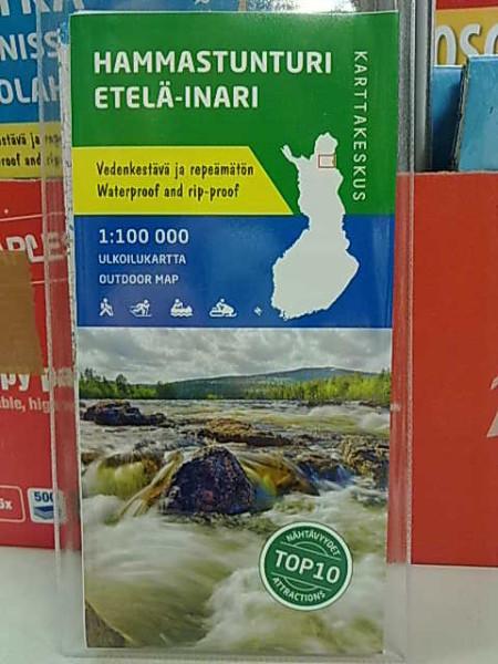 Hammastunturi Etelä-Inari 1:100.000 ulkoilukartta,