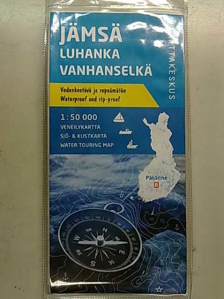 Jämsä Luhanka Vanhanselkä 1:50.000 veneilykartta,