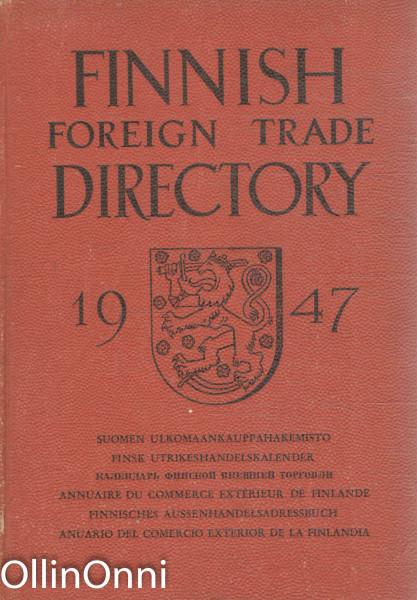 Finnish Foreign Trade Directory 1947, Ei Tiedossa