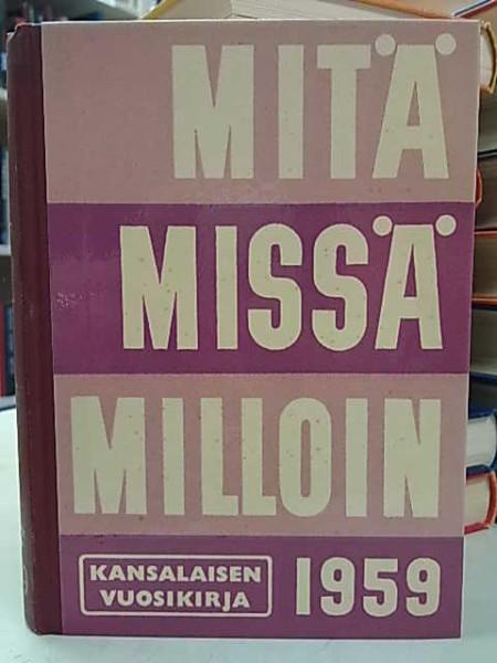Mitä Missä Milloin 1959 (kangasselkämys),