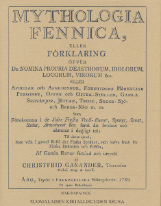 Mythologia Fennica, Christfrid Ganander