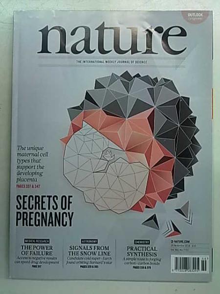 Nature 7731 - 15 November 2018,
