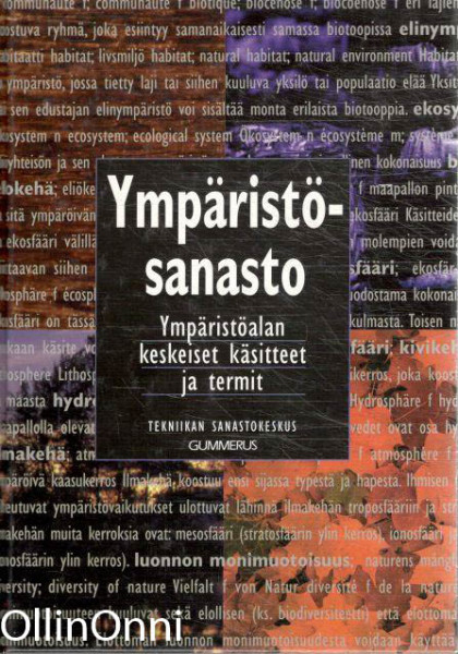Ympäristösanasto = Miljöordlista = Environment vocabulary = Umweltglossar = Vocabulaire de l'environnement, Matti Helminen
