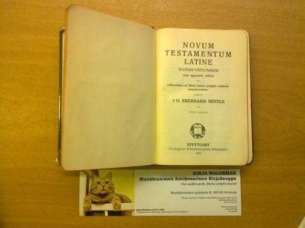 Novum Testamentum Latine, Nestle Eberhard D