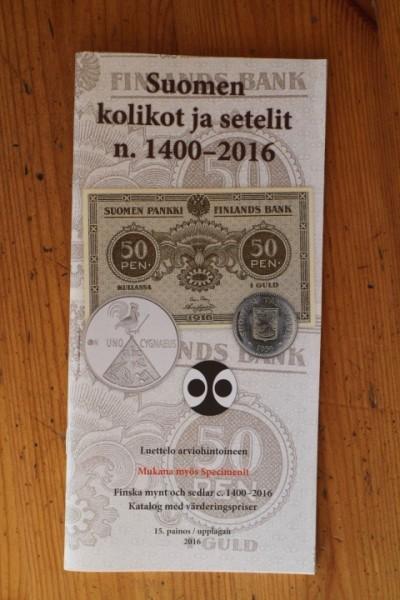 Suomen kolikot ja setelit n. 1400-2016, Jorma J. Imppola