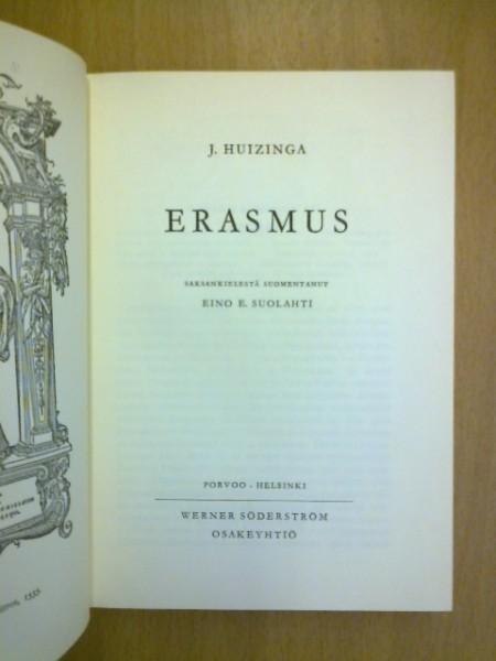 Erasmus, Huizinga J.