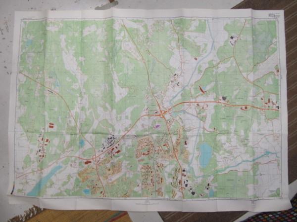 Miehityskartta Helsinki lehti 1/6 1:10.000 (alue Harjula - Myllypuro - Haltiala - Hki-Vantaa lentokenttä),