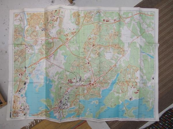Miehityskartta Helsinki lehti 4/6 1:10.000 1989 (alue Tuomarinkartano - Hermanni - Uutela - Sandbacka),
