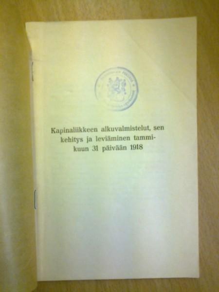 Kapinaliikkeen alkuvalmistelut, sen kehitys ja leviäminen tammikuun 31 päivään 1918, Aminoff Majuri Gustaf