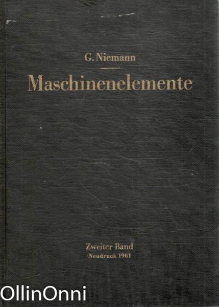 Maschinenelemente, Dr. Ing. G. Niemann
