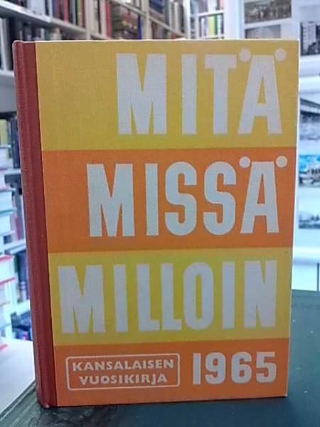 Mitä Missä Milloin 1965 (kangasselkämys), Matti Käki