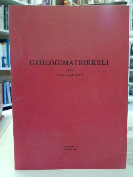Geologimatrikkeli, Aarne Laitakari