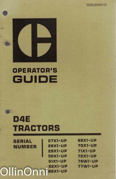 Operator's Guide - D4E Tractors, Ei tiedossa