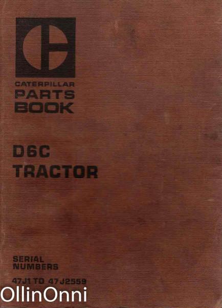 Caterpilla Parts Book - D6C Tractor, Ei tiedossa
