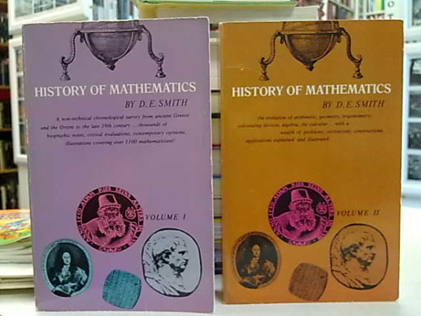 History of Mathematics I-II by D. E. Smith, David Eugene Smith