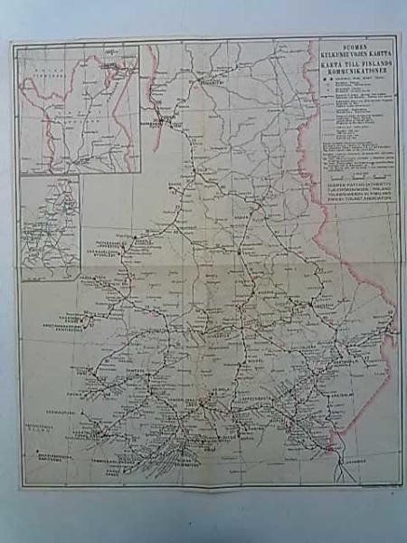 Suomen kulkuneuvojen kartta 1943 1:200.000(lev. 37 cm x kork. 43 cm),