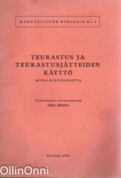 Teurastus ja teurastusjätteiden käyttö, Anni Sirkka