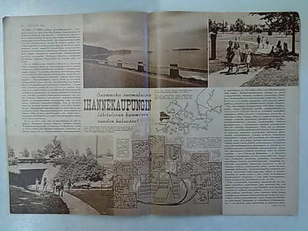 Kotiliesi 1952 1 - mm. Saammeko suomalaisen ihannekaupungin lähitulevan kymmenen vuoden kuluessa? (Tapiola), Jorma Mäenpää