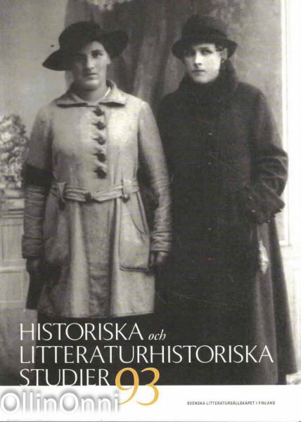 Historiska och litteraturhistoriska studier 93, Anna Biström