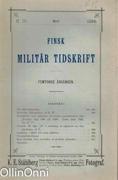 Finsk militär tidskrift, K.E. Ståhlberg