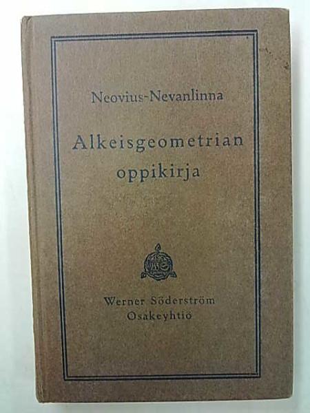 Alkeisgeometrian oppikirja, L. Neovius-Nevanlinna