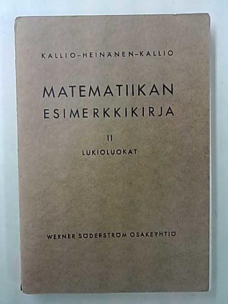 Matematiikan esimerkkikirja II Lukioluokat, Niilo Kallio