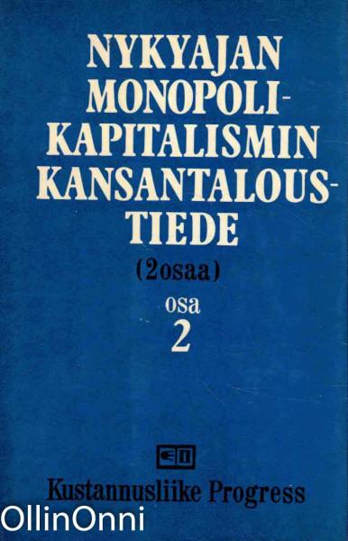 Nykyajan monopolikapitalismin kansantaloustiede 1-2, N.N. Inozemtsev