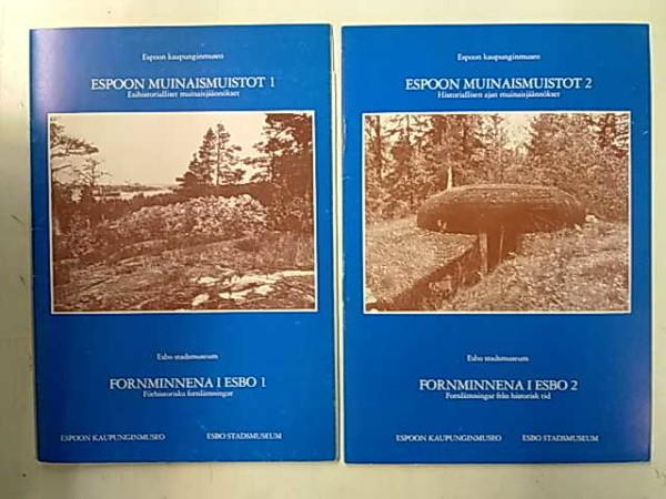 Espoon muinaismuistot 1-2 (Esihistorialliset muinaisjäännökset. Historiallisen ajan muinaisjäännökset), Jyri Kokkonen