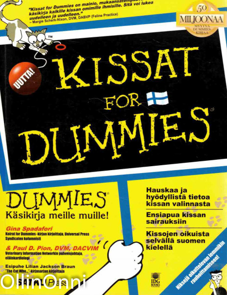 Kissat for dummies, Gina Spadafori