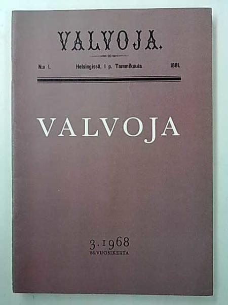 Valvoja 1968 3 - mm. Filosofian skitsofreniasta, Erkka Maula