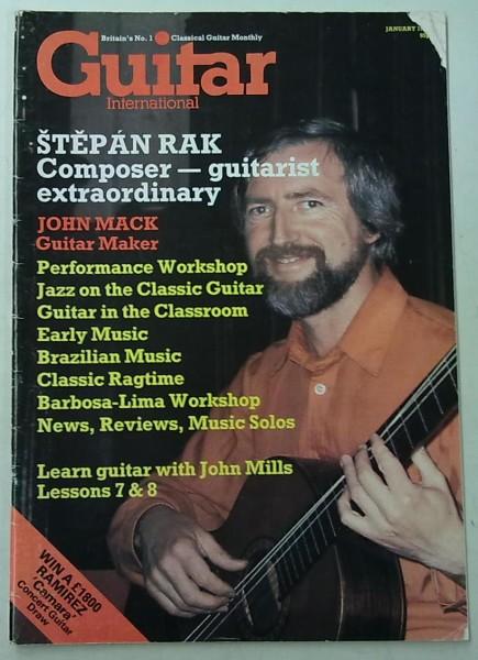 Guitar International January 1985 (January Issue Vol.13 No.6),