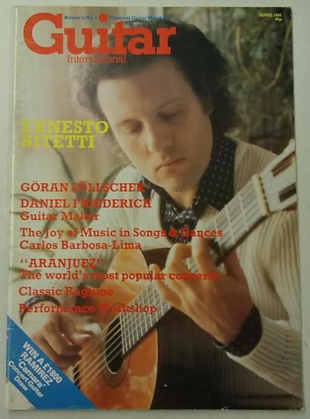 Guitar International April 1985 (April Issue Vol.13 No.9),