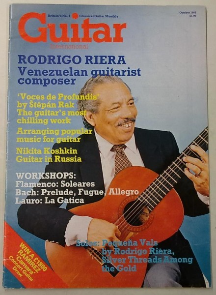 Guitar International October 1985 (October Issue Vol.14 No.3),