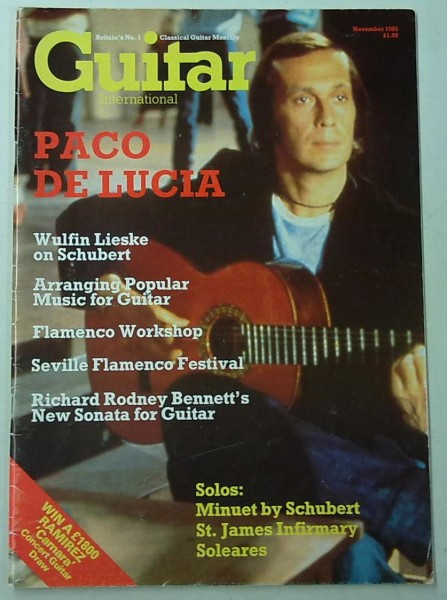 Guitar International November 1985 (November Issue Vol.14 No.4),