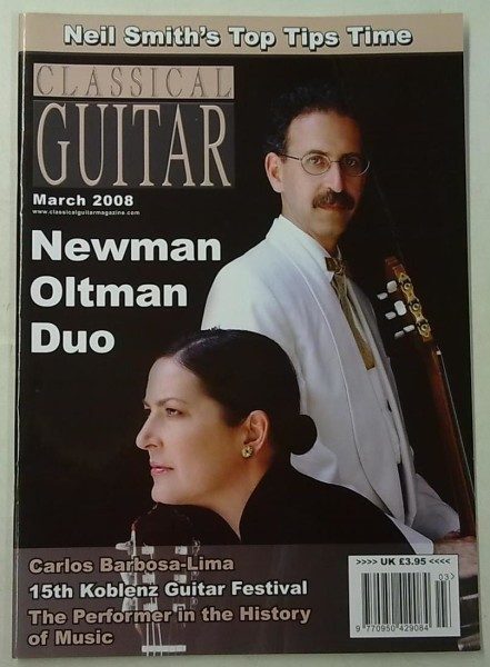 Classical Guitar March 2008 (Volume 26, No.7),